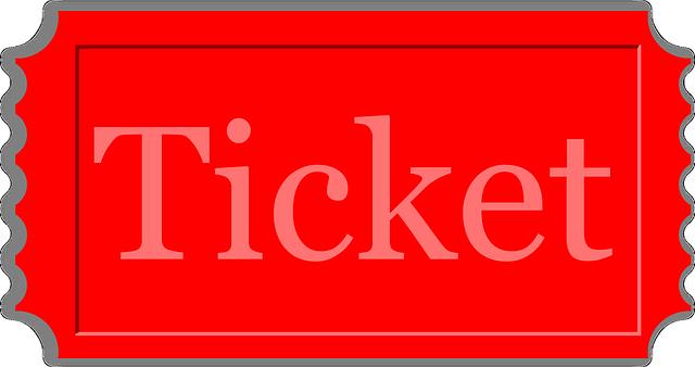 červený ticket