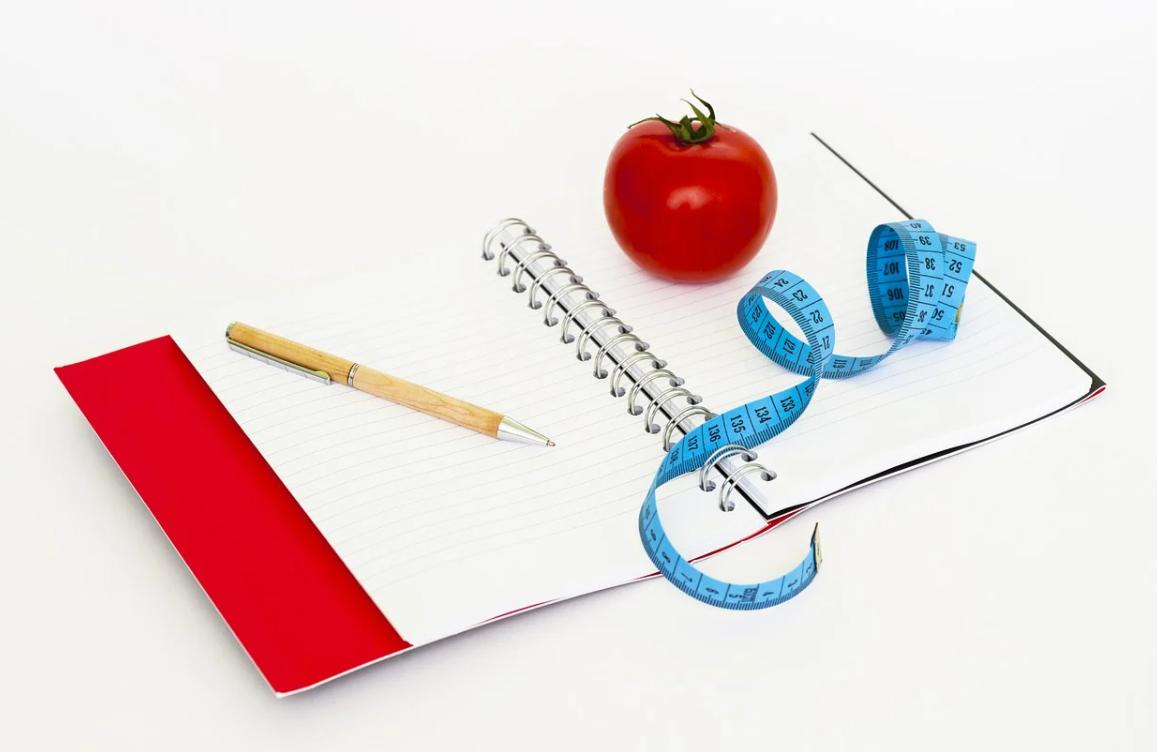 zapisování při dietě